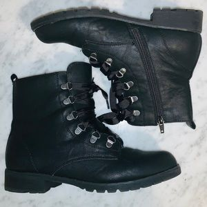 Shoes - Ribbon Laced Combat Boots